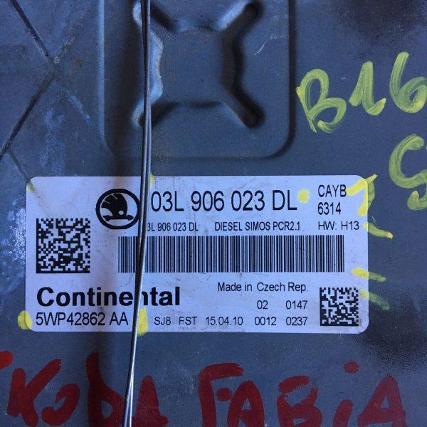 Centralina Motore Completa 03L906023DL skoda fabia 1.6 benzina 2007
