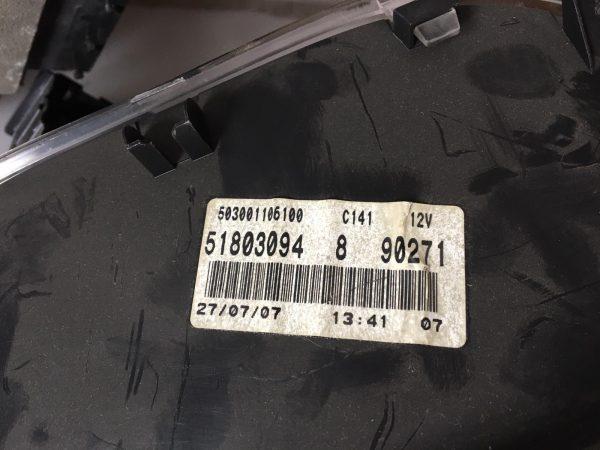 Centralina Motore 51806506 Fiat Grande Punto 1300 MJT, Centralina Body 00517986160, Quadro Strumenti 51803094