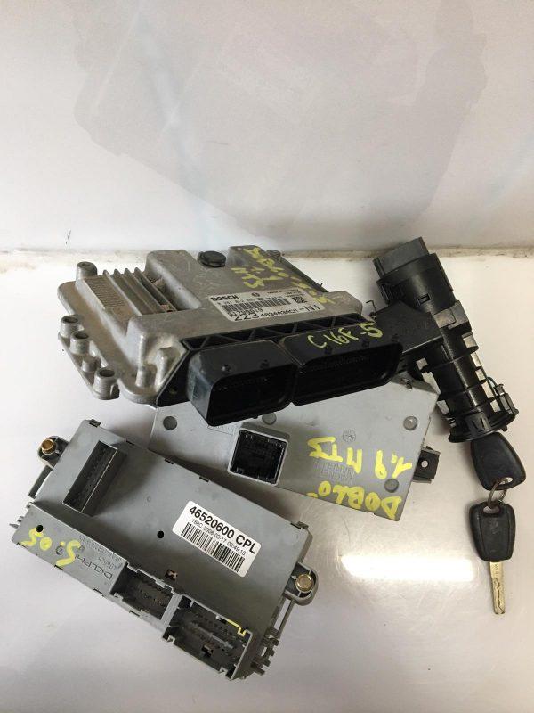 Centralina Motore 0281012865 Fiat Doblo 1900 mjt 2006, Centralina Body 51769367